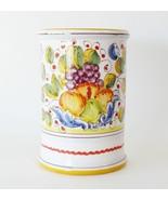Arte D'Italia Deruta Frutta Miele Majolica Wine Bottle Utensil Holder Ma... - $45.00