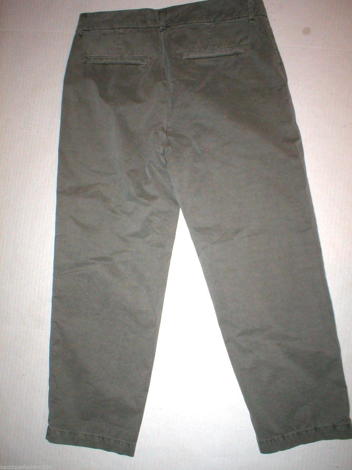 New J Brand Jeans Relaxed Womens Parker Vin Fort 25 Chino Pant Army Green Cotto image 6