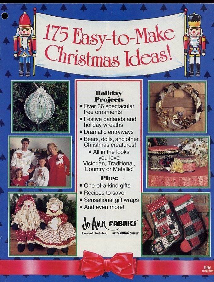 175 Easy To Make Christmas Ideas Booklet Ornaments Garlands Wreaths Dolls Quilts