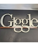 """Distressed Metal Sign- """" Giggle"""" play on Google logo Office Home Wall De... - $8.81"""