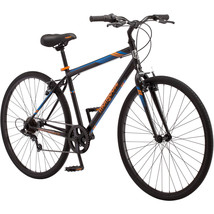 Mongoose Fitness Bike Men 700C Black Hybrid Commuter Sport City Bicycle ... - €113,60 EUR