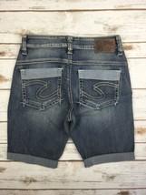Silver J EAN S Shorts High Rise Kellii Relaxed Cuffed Denim Stretch Jean Short 27 - $19.97