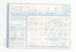 RARE The Violent Femmes 7/17/89 Mansfield MA Great Woods Ticket Stub! Bo... - $7.91
