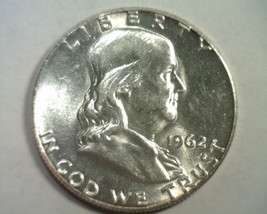 1962 FRANKLIN HALF UNCIRCULATED UNC. NICE ORIGINAL COIN FROM BOBS COIN F... - $16.00