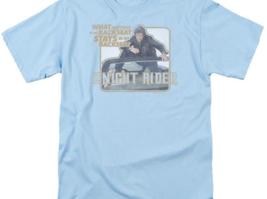 Knight Rider Retro 80's TV show David Hasselhoff & Kitt graphic t-shirt NBC667 image 2