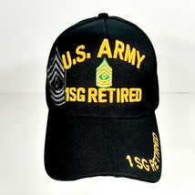 US Army 1SG Retired Men's Ball Cap Hat Black Embroidered Acrylic - $12.37