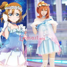 LoveLive! Love Live Kousaka Honoka Chiffon Tee Dress Uniform Cosplay Cos... - $45.99