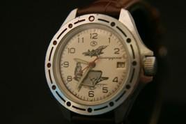 Rare vintage USSR Vostok Naval Commander 17 jewel Soviet military wristwatch - $108.90