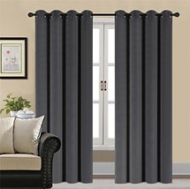 HCILY Velvet Blackout Curtains Thermal Insulated for Bedroom 2 Panels W5... - $41.39