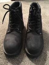 Mens Sketchers Black Steel Toe Boots, Size 9 - $33.99