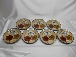 """Old Vtg Pfaltzgraff Everyday Painted Poppies 8 3/4"""" Plate Salad Dinnerware Lot 7 - $49.49"""