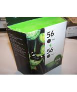 HP Genuine 56 Black twin pack Ink Cartridges C6656AN sealed box - $26.19