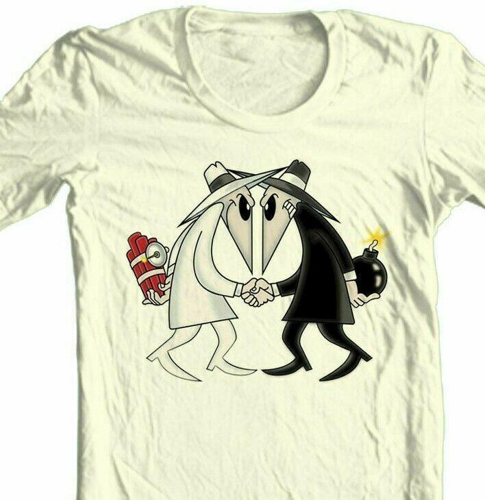 Spy vs Spy T-shirt MAD retro 1980s tv comics 100% cotton graphic tee
