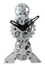 Maple's Moving Gear Table Clock, Upright Figure - $50.99