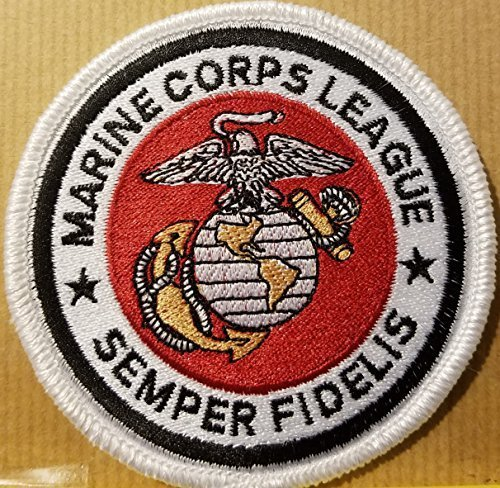 Primary image for Marines Iron-On Patch US Patriotic White Border #2