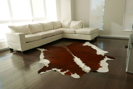 Hereford Cowhide Rug Size:7' X 7' Hereford Brown and White Cow Hide Rug M-429 - $197.01