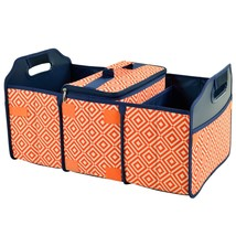 Original Folding Trunk Organizer with Cooler by Picnic at Ascot - Orange... - $64.87