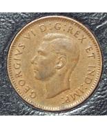 KM#32 1941 Canadian George VI Cent XF #0503 - $0.89