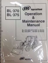 Bobcat BL370 & BL375 Backhoe Operation & Maintenance Manual Owner's 3 #6901972 - $25.00