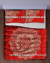 Indian Mandala Red Gold Ombre Bedspread Tapestry Wall Hanging Hippie Bed... - $22.99