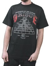 Orisue Mens Black Architects of the Future Building a Better Future T-Shirt NWT