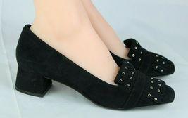Nine West women's shoes loafer leather upper black medium heel size 9M image 4