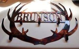 "Personalized Antler Coat/Cap Rack up to 8 letters 20 1/2"" x 14 1/2"" - $44.99"