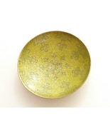 Vintage Small Green Enamel Two Tone Brass Bowl Dish Trinket Dish Incense - $24.00