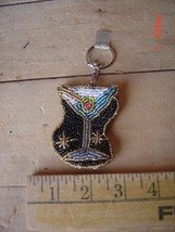 Beaded Key Chain - MARTINI - BAR DRINK - NIGHT CAP - PARTY - Lot of TWO (2) - $9.89