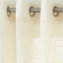 """JCP Serene Embroidered Sheer Grommet-Top Curtain Panel Ivory 50x95""""  50x... - $23.55+"""