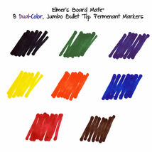 Set of 4 Elmer's Board Mate Dual Colors Thin Thick Tip Permanent Markers NEW image 5