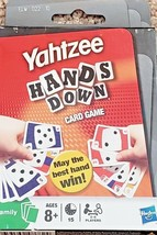 Yahtzee Hands Down Card Game May the Best Hand Win 2 - 6 Players Ages 8+  New - $12.83