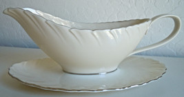 Lenox Weatherly Gravy Boat and Attached Underplate - $159.36