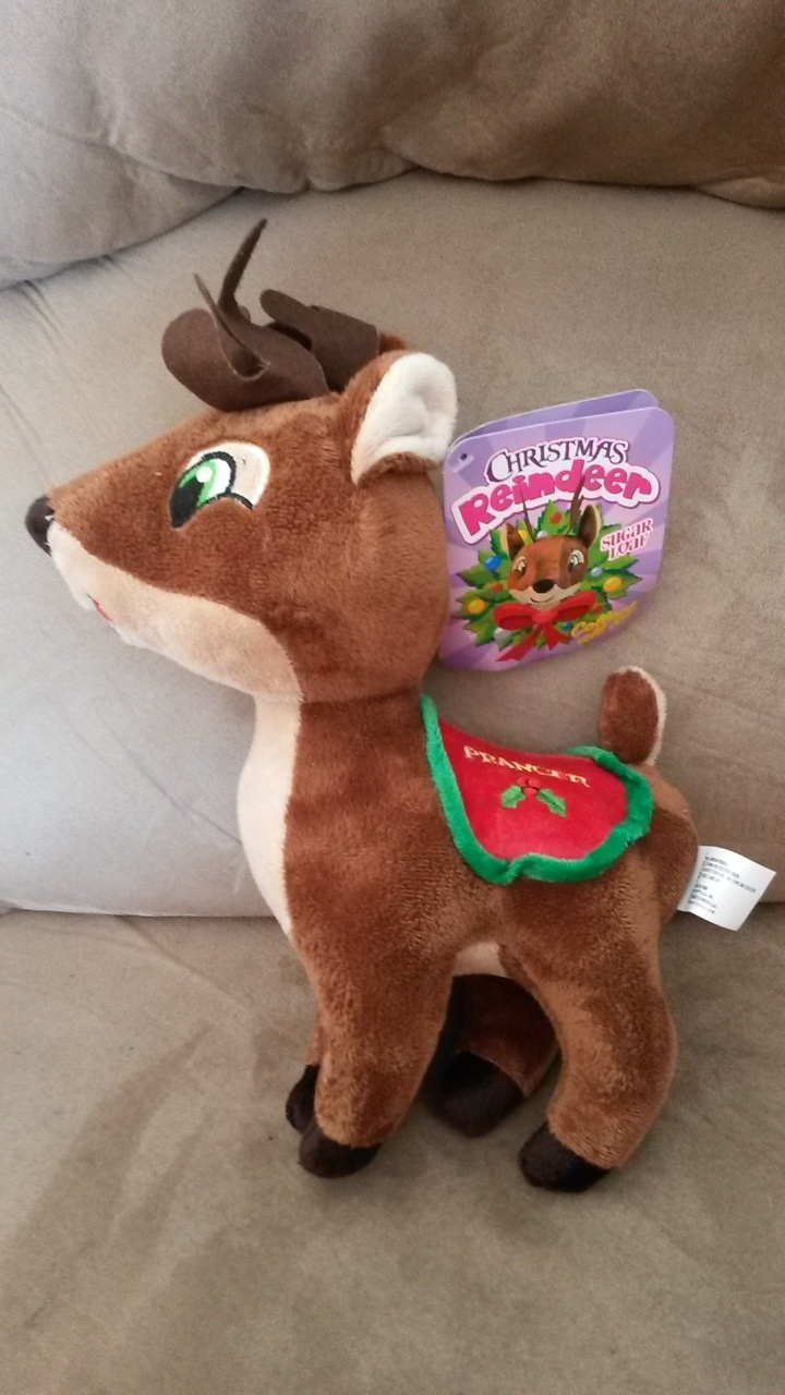 "Primary image for 2015 Santa's Reindeer PRANCER New Licensed Plush NWT Tags 12"" Christmas Xmas"