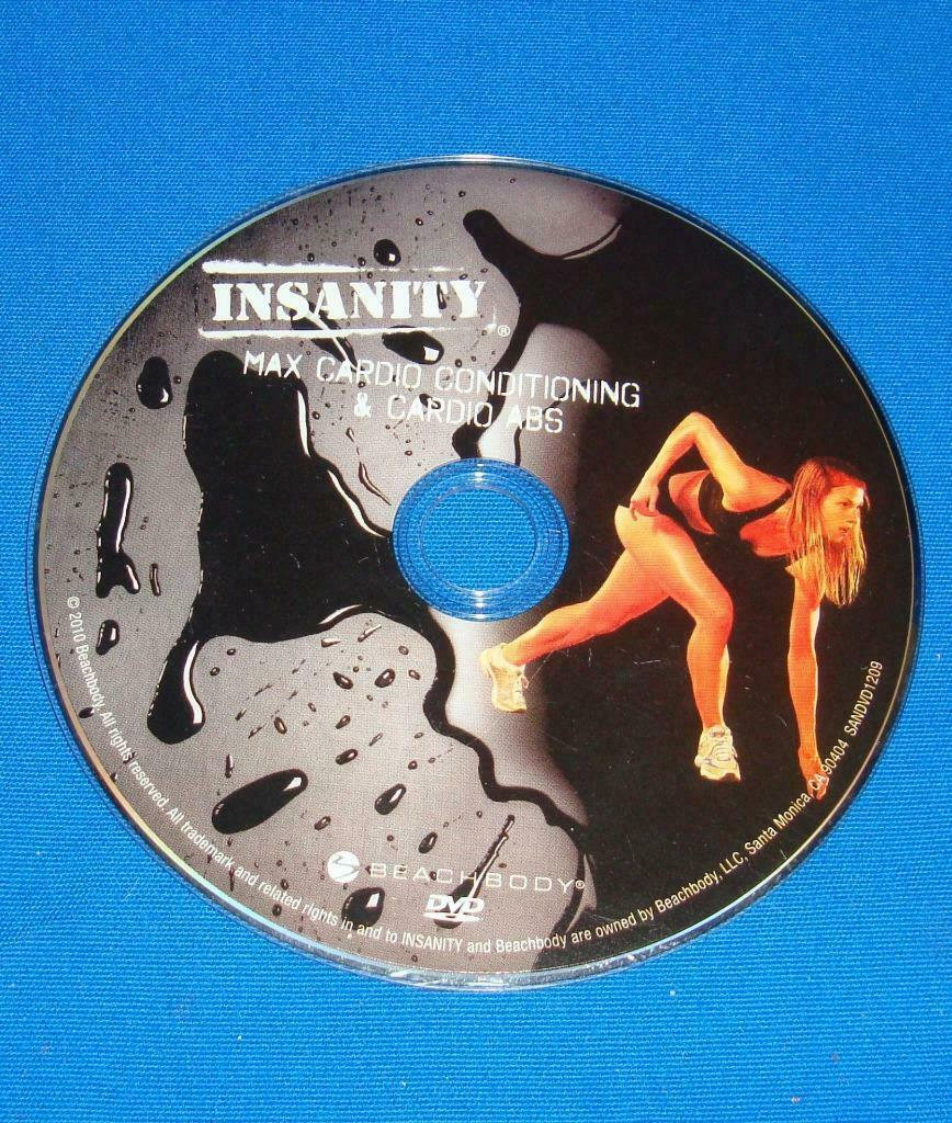 BEACHBODY INSANITY MAX CARDIO CONDITIONING & CARDIO ABS  REPLACEMENT DISC DVD