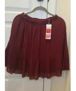 Allegra K skirt Wavy & Pleated Burgundy red size M + fits L women girl c... - $0.98