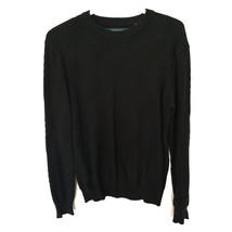 men Perry Ellis Patterned Sweater black S - $25.00