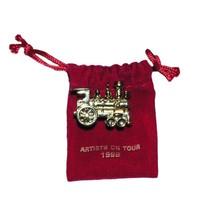 Hallmark 1999 Gold Locomotive Artists On Tour Noel RR R.R. Miniature Ornament - $24.95