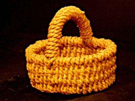 Handmade Woven Wicker Basket with Handle AA-191713 Vintage Collectible image 7