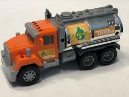 Tonka Toughest Minis BioFuel Tanker Truck Lights and Sound Orange #06396 - $9.79