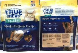 (2) True Chews Natural Cat Treat Sticks Alaskan Pollock Recipe 3 oz BB 6... - $19.79