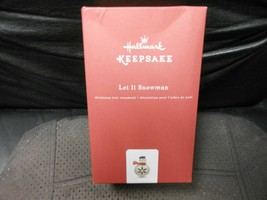 "Hallmark Keepsake ""Let It Snowman"" 2017 Metal Ornament NEW - $15.59"