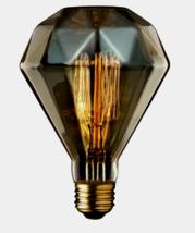 Globe Designer DIAMENTE Amber Glass BR30 Decorative Bulb 40 watts E26 84644 NEW - $16.99