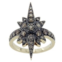 Authentic H STERN 18k Gold Champagne Diamonds Genesis Star Ring Size 6 »... - £2,591.36 GBP