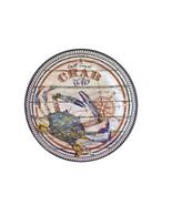 "East Coast Crab Co. Set of 4 Melamine 10.5"" Dinner Plates Size Coastal N... - $29.82"