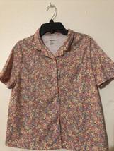 GAPKIDS Sleep GIRLS PAJAMA TOP Button down SHIRT Floral Size 12 - $7.60