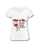 Wine A Bit Women's V-Neck T-Shirt - $21.99