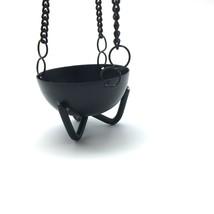 "Small Cauldron Burner - Hanging Black Cauldron - Smudging Pot 1.75"" - $21.30"