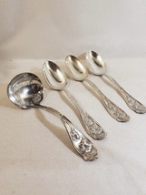 CARNATION 4Pc Completer Ladle 3 Serving Spoons Silverplate WR Keystone 1908 - $26.95
