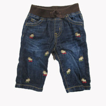 Gymboree Reindeer Embroidered Jeans SIZE 3-6 MONTHS - $9.85